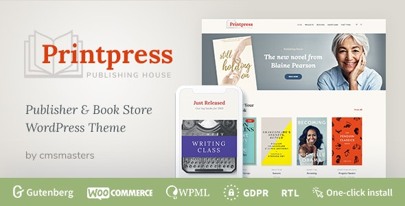 Printpress -  Book Publishing WordPress Theme - WooCommerce eCommerce