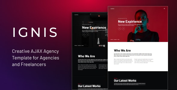 IGNIS - Creative AJAX Agency Template - Creative Site Templates