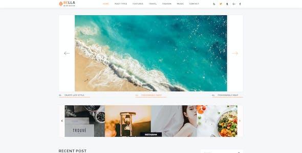 Bella - Creative Blog PSD Template