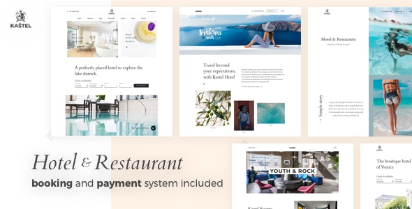 Kastel - Hotel & Restaurant WordPress Theme - Travel Retail