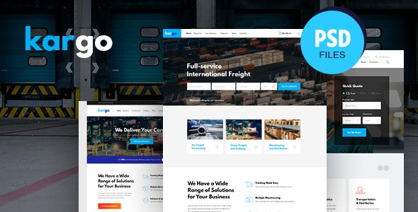 Kargo | Logistics & Transportation PSD Template - Business Corporate