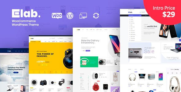 eLab - Electronics Shop WordPress Theme nulled theme download