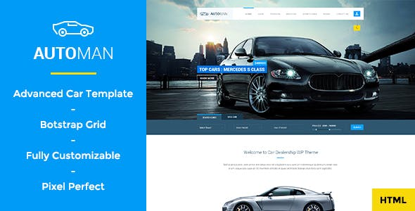 Automan - Advanced Car Dealer HTML Template