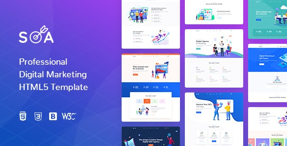 Soa | Digital Marketing HTML5 Template - Marketing Corporate