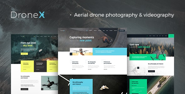 DroneX | Aerial Photography & Videography WordPress Theme - Photography Creative