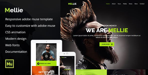 Download Mellie - Music Muse Template