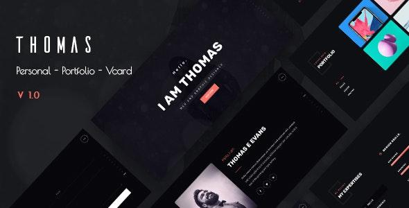 Thomas - Personal Portfolio and Vcard Template - Portfolio Creative