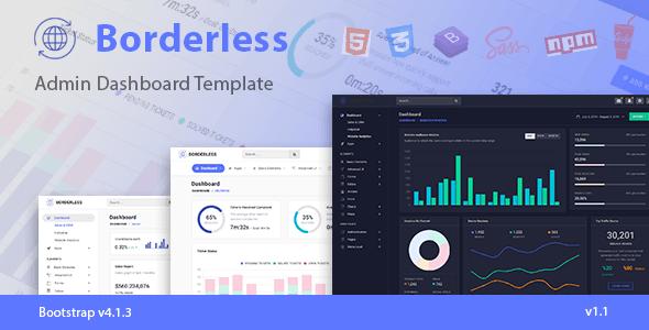 Borderless - Responsive Admin Dashboard Template - Admin Templates Site Templates