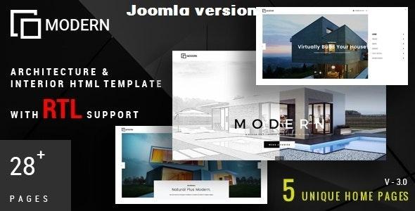 Modern - Architecture & Interior Joomla Template - Business Corporate