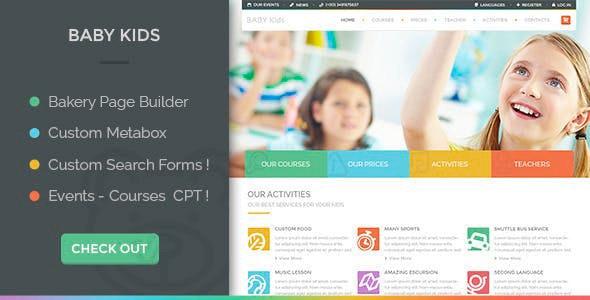 Baby Kids - Education Primary School For Children - Education WordPress