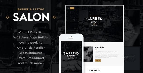Salon | Barbershop & Tattoo Studio WordPress Theme - Health & Beauty Retail