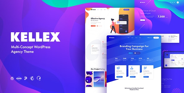 Kellex - WordPress Theme for Saas and Agencies - Business Corporate