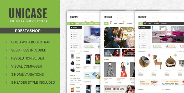 Unicase  Responsive Prestashop Theme - Technology PrestaShop