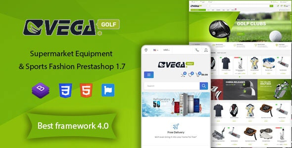 Vega Store - Supermarket Equipment & Sports Fashion PrestaShop Theme - Shopping PrestaShop