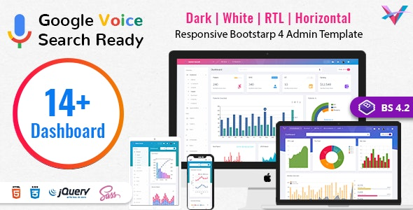 VoiceX - Bootstrap Admin Dashboard Template by