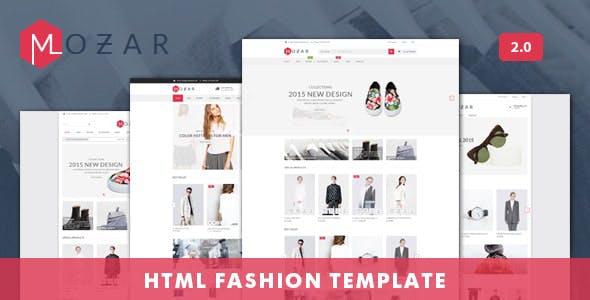 Mozar - Fashion Clothing Shop eCommerce HTML Template