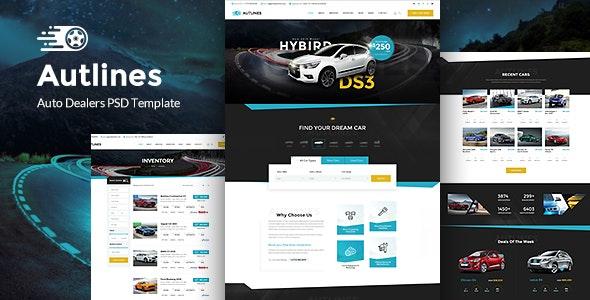 Autlines - Autodealer & Tuning Auto - Retail Photoshop
