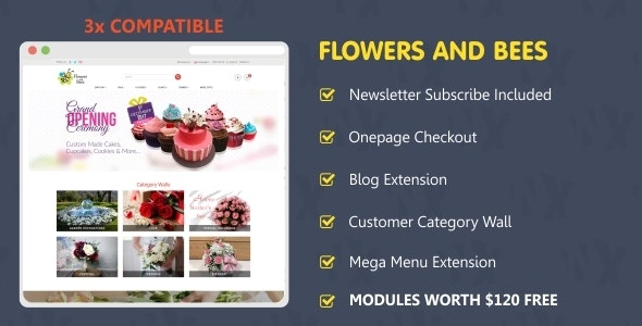 Flowers and Bees - OpenCart eCommerce