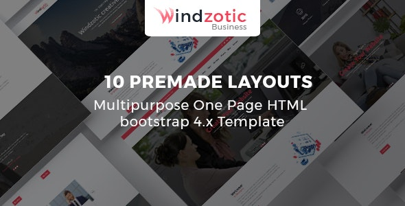 Windzotic - Responsive Multipurpose Corporate HTML5 Template - Business Corporate