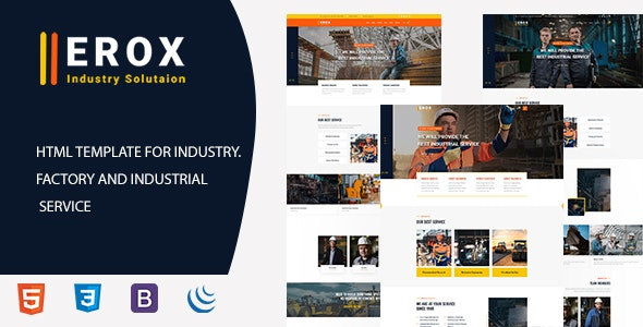 Erox - Industrial & Factory HTML5 Template - Corporate Site Templates