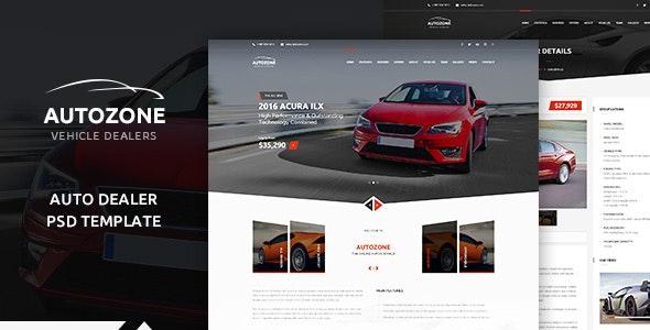AUTOZONE -  Car Dealer PSD Theme - Retail Photoshop