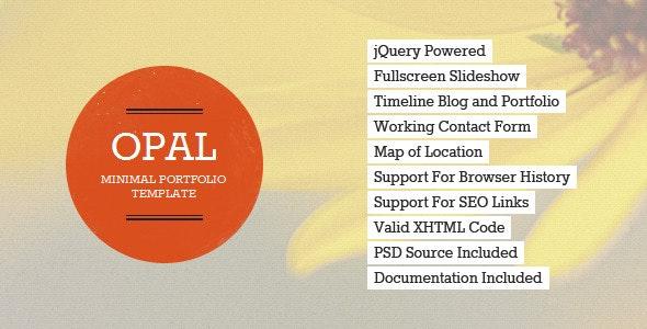 Opal - Minimal Portfolio Template - Portfolio Creative