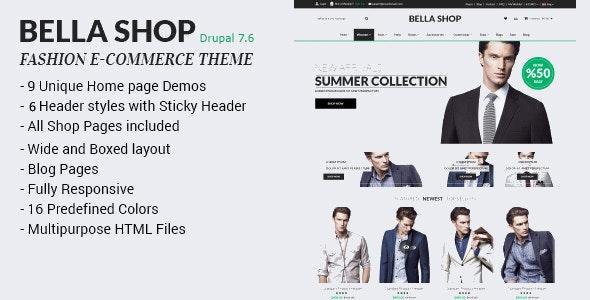 Bella Shop - Commerce Drupal 7 Theme - Fashion Retail
