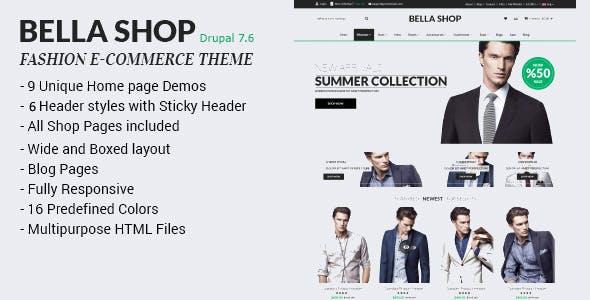 Bella Shop - Commerce Drupal 7 Theme