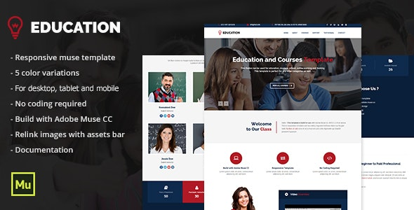 Responsive Education Adobe Muse Template - Corporate Muse Templates