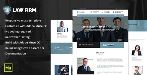 Law Firm Adobe Muse Template - Corporate Muse Templates