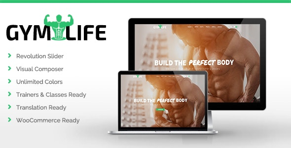 GymLife - Gym, Yoga & Fitness WordPress Theme - Health & Beauty Retail