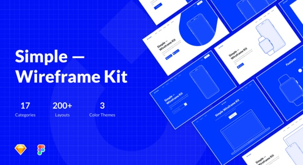 Symple – Wireframe Kit Sketch Template - Sketch UI Templates