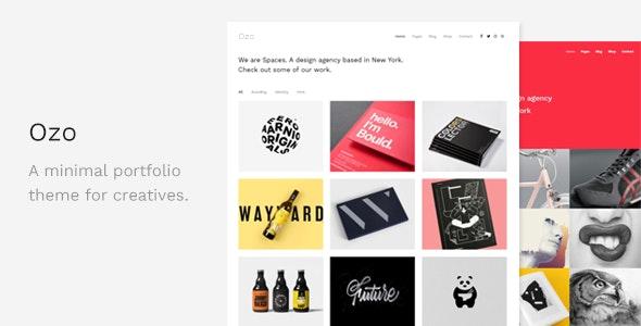 Ozo - Minimal Portfolio WordPress Theme - Portfolio Creative