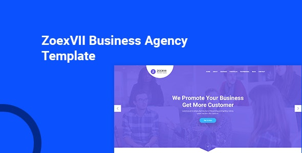 ZoexVII - Creative Agency PSD Template - Business Corporate