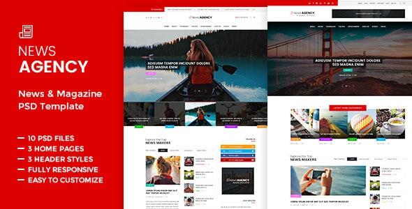 News Agency -  PSD template - Miscellaneous PSD Templates