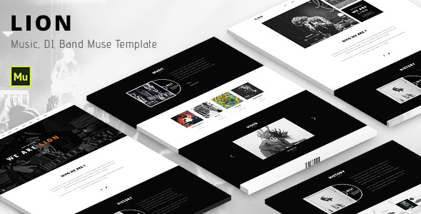 Lion - Music Adobe Muse template - Miscellaneous Muse Templates