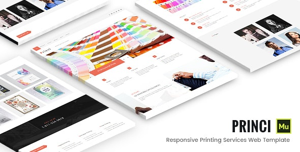 Printing Services Muse Template - Corporate Muse Templates