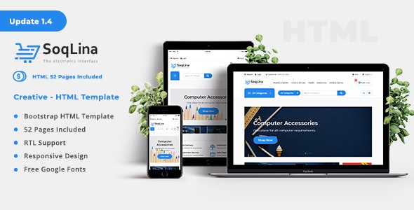 SoqLina - Ecommerce HTML Template - Shopping Retail