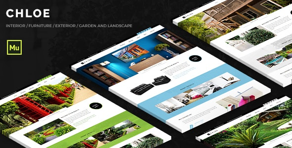 Chloe - Interior and Exterior Muse Template - Corporate Muse Templates