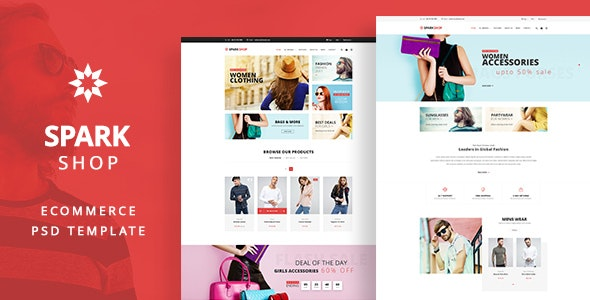 Spark - Shop PSD template - Shopping Retail