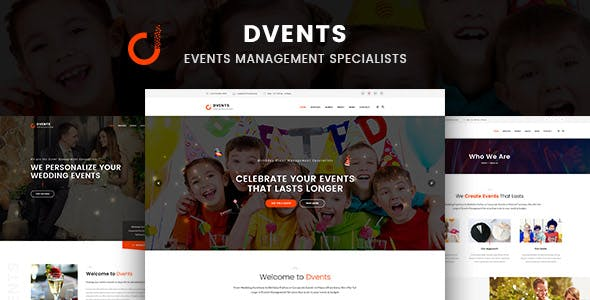 Dvents - HTML Template