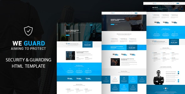 We guard -  Security HTML Template - Business Corporate