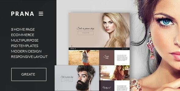 Prana - Fashion html  Template - Fashion Retail