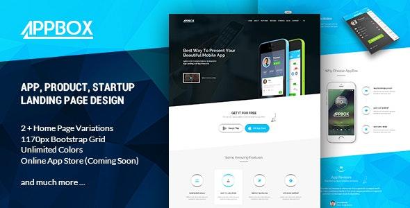 Appbox - PSD template - Technology Photoshop
