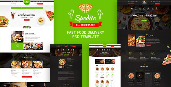 Spedito - Ordering Fast Food PSD - Food Retail