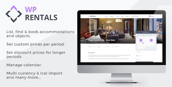 WP Rentals - Booking Accommodation WordPress Theme by