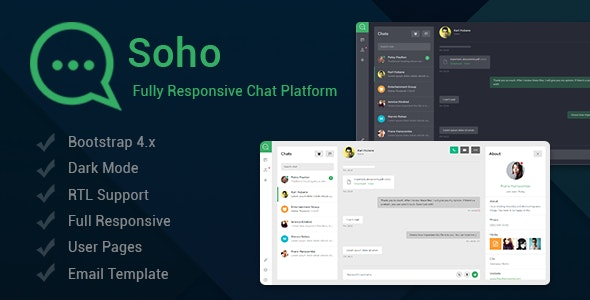 Soho - Chat and Discussion Platform - Admin Templates Site Templates