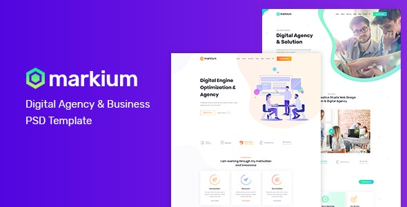 Markium - Business Agency PSD Template - Corporate PSD Templates