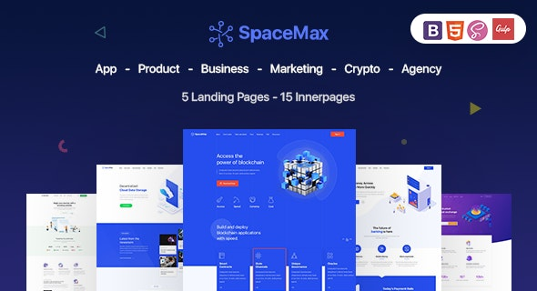 SpaceMax - Multipurpose Landing Page by Elegant_Pixel