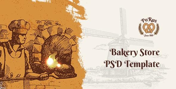 Porus - Bakery Store PSD Template - Photoshop UI Templates
